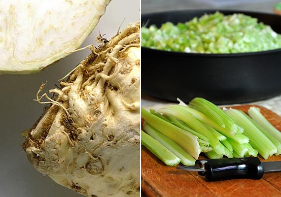 A zeller - mind a gumós, mind pedig a szárzeller - az egyik legjobb haslapító zöldség a világon. Vízhajtó hatása van, és gazdag emésztéspörgető, salaktalanító élelmi rostokban is. A-, B- és C-vitamint tartalmaz, emellett vas, kálium, kalcium és magnézium is található benne, kalóriatartalma viszont a nullát súrolja. Bevethető elsavasodás ellen is, visszaállítja a test sav-bázis egyensúlyát. Ha zellerrel fogynál, és kedveled az almát is, próbáld ki az alma-zeller diétát!