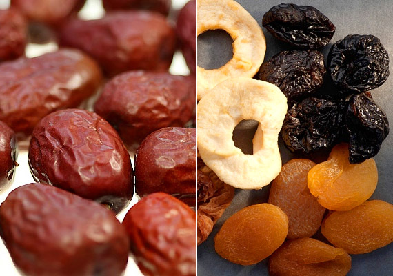 A szárított gyümölcsökben eleve sok cukor van, de kaphatóak a boltokban olyan változatok is, melyek nem csupán fruktózt, de hozzáadott cukrot is tartalmaznak. Ez utóbbiakat mindenképpen kerüld. Nassolj helyettük inkább friss gyümölcsöt.