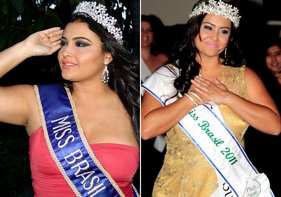 Barbara Monteiro 2012-ben nyerte el a Miss Plus Size Brasil címet. A 37 éves brazil hölgy 82 kilogrammot nyom, és 180 centi magas.