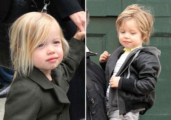 Angelina Jolie és Brad Pitt egy időben - ki tudja, milyen megfontolásból - következetesen fiúruhákban járatták kislányukat, Shiloh-t. Mostanra szerencsére felhagytak ezzel.