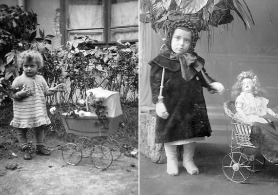 A kislányok körében a babakocsi elengedhetetlen a papás-mamás játékokhoz.