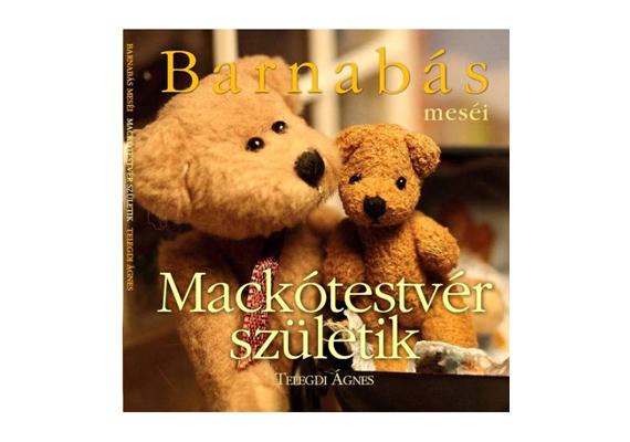Telegdi Ágnes Barnabás meséi: Mackótestvér születik című könyvében Barnabás mackónak kistestvére lesz. A könyvet itt rendelheted meg, ára 1437 forint.