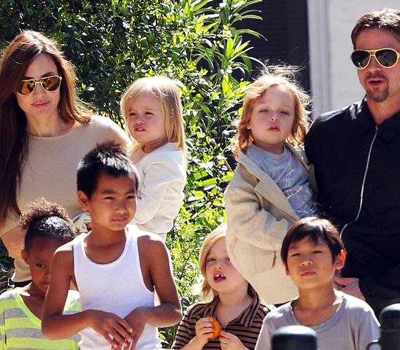 Angelina Jolie sikeres színésznő, a rendezésben is kipróbálta magát, emellett pedig szívén viseli a nélkülöző, árva gyerekek sorsát, akikért rengeteget tesz önkéntesként. Férjével, Brad Pitt-tel közösen három gyermeket fogadtak örökbe, plusz még három saját csemetét is bevállaltak. A nyolctagú család alig fér rá egy képre, látványnak sem csekély ennyi gyerkőc. Ám Angelina egyedül is rengeteg időt tölt velük, számára az anyai feladatok élveznek elsőbbséget.