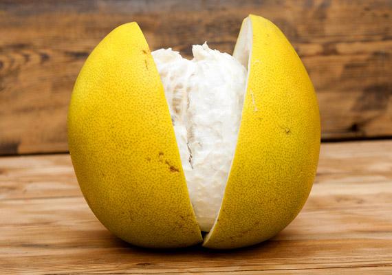 A vastag héjú óriáscitrus, a pomelo 100 grammja 61 milligramm C-vitamint tartalmaz, tehát a pomelo a legjobb C-vitamin-forrás a citrusfélék között.
