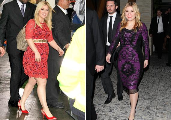 Kelly Clarkson korábban sem nádszálkarcsúságáról volt híres, de amióta első babáját várja, még kevésbé érdeklik a kilók. A színésznő szívesen hord vidám, mintás darabokat, amelyek optikailag még több felesleget sejtetnének, ha nem lennének derékban mintásak. Így pont azt emelik ki, amit látni kell.