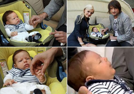 Edvin Marton második kisfia, Noel 2011. április 19-én, császármetszéssel jött a világra - nem sokkal idősebb nála nagytesója.
