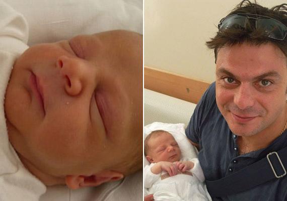 Szikszai Rémusz kisfia, Gáspár András 2011. június 21-én látta meg a napvilágot - ezzel a TV2 sztárja immár háromgyerekes apuka lett.