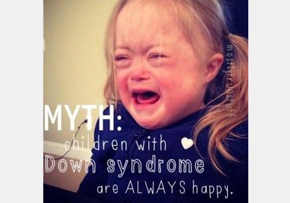 Mítosz: a Down-szindrómás gyerekek mindig jókedvűek.