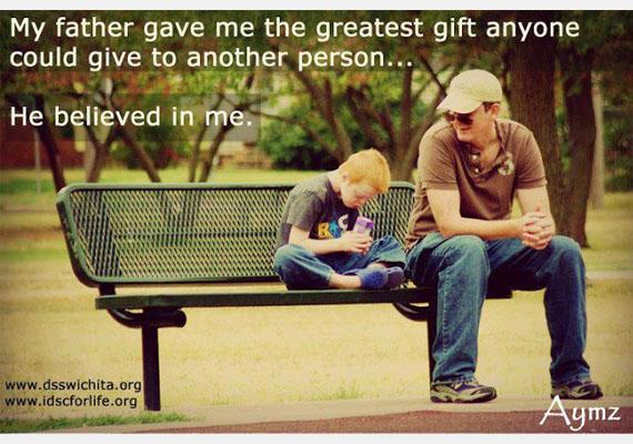 Apukám adta nekem a legnagyobb ajándékot, amit ember embernek adhat: hitt bennem.