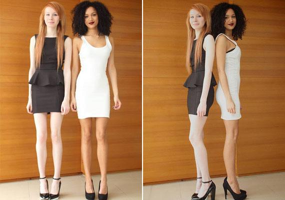 Egyikük, Maria sötét, göndör hajú, másikuk, Lucy vöröses és kékszemű. Bár testalkatuk és magasságuk hasonló, másban nem hasonlítanak a lányok.