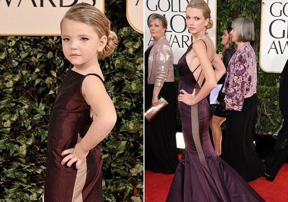 Íme, Taylor Swift kicsiben - ez a szép kislány szinte ijesztően koravén benyomást kelt a híresség bőrébe bújva.