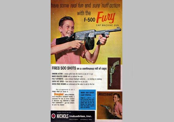 Fury-fegyverreklám.