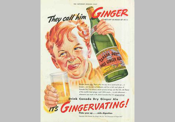 Ginger a neve. Igyál Canada Dry-t!