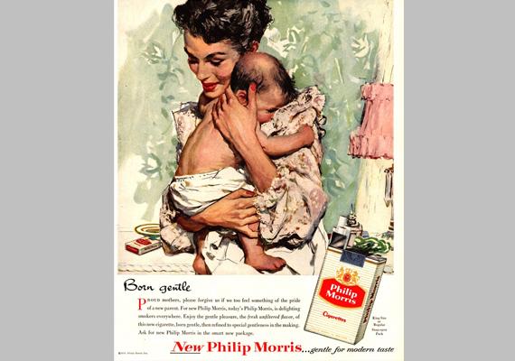 Gyengédnek született. Új Philipp Morris... gyengéd a modern ízléshez.