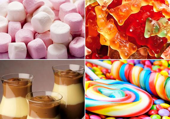 Édességek                         Az édességnek is számtalan formája van, léteznek jobb és rosszabb verziók. Ha mindenképp csemegére vágyik, adj a gyereknek étcsokoládét vagy házi, cukormentes zabkekszet. Nincs azonban rosszabb a mesterséges anyagokban bővelkedő pillecukornál, pudingnál vagy nyalókánál. Nemcsak elősegítik a cukorbetegséget a cukortartalmuk révén, de bizonyos értelemben mérgezik is a szervezetet a bennük lévő műösszetevők miatt.