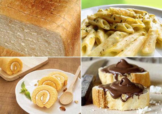 Szénhidrátdús ételek                         Aminek köze van a tésztához, az rendszerint kerülendő. A kenyér állandó része a mindennapi táplálkozásnak. Kiváltképp a fehér kenyér káros, mivel lassítja az emésztést, és hizlal is. Mindemellett sok szénhidrátot tartalmaz, akárcsak a főtt tésztaételek. Bár a házi süti jobb, mint mondjuk a péksütemények, ez senkit ne tévesszen meg, magas szénhidráttartalma ugyancsak ellene szól. A gyerekkedvenc mogyorókrémes kenyér pedig mindennek a teteje: kenyér zsíros-cukros masszával.