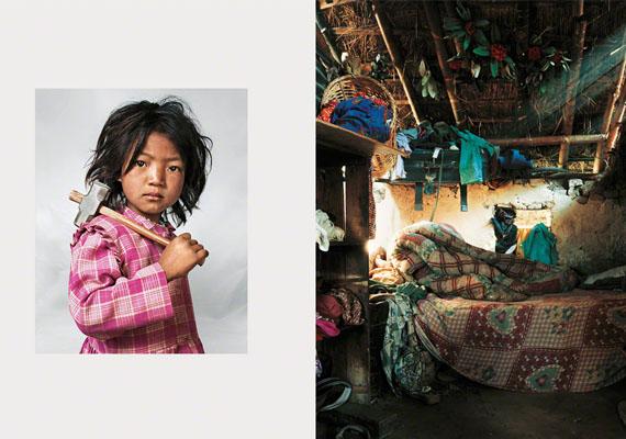 Ennek a szegény munkás kisgyereknek nemcsak az ágya, hanem a tekintete is mutatja, milyen nehéz lehet az élete.Indira, Nepál