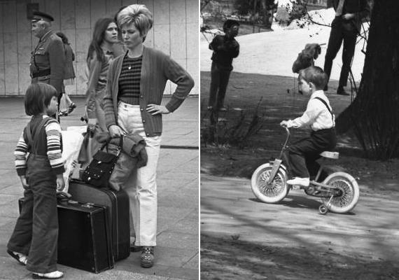 Bőrönddel vagy anélkül, kisbiciklire pattanva láttak világot a gyerekek. (1974; 1977)