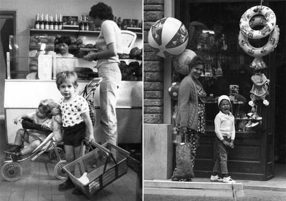 A vásárlás akkor is nagyon izgalmas volt anyával. Bár a bal oldali kép 1981-es, kis jóindulattal befér '70-es évekbeli képeket bemutató galériánkba. (1981; 1972)