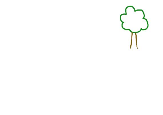 Először is, figyeld meg, mekkora fát rajzolt a gyerek! Ha a fa kicsi a lap méretéhez képest, a gyerkőc sajnos önbizalomhiánnyal küzdhet, társai közt elnyomva, esetleg kevésbé értékesnek érezheti magát.