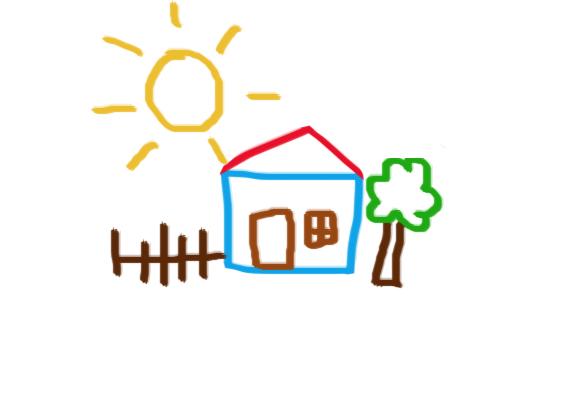 Ha a nap viszont nagyon nagy, a gyermek azt érzi, a felé áramló szeretet nemhogy kielégíti a szeretetigényét, de rendkívül boldoggá és kiegyensúlyozottá is teszi. Nincs szeretethiánya, úgy érzi, ami felé áramlik, elég, és még annál is több. Ha a napocska arányos a ház méretével, a helyzet ugyanígy pozitív.