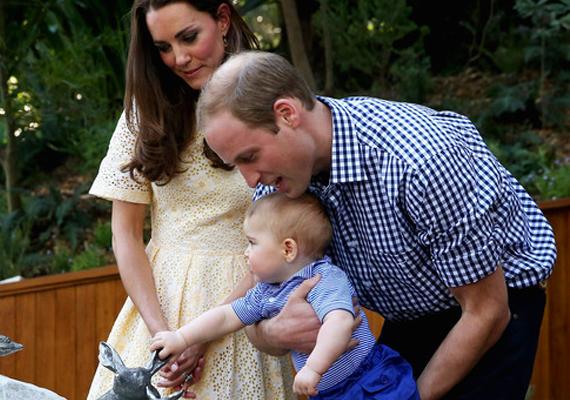 Vilmos herceg, Katalin hercegnő és a kis herceg nemrégiben háromhetes új-zélandi és ausztráliai úton vettek részt, ahol Györgyöt állatkertbe is elvitték.