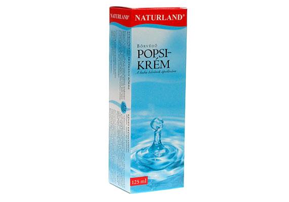 A Naturland popsikrém érzékeny bőrű csecsemők ápolószere. Segíti megakadályozni a bőr kipirosodását, ha pedig már megtörtént a baj, nyugtatólag hat. 730 forint/60 milliliter.