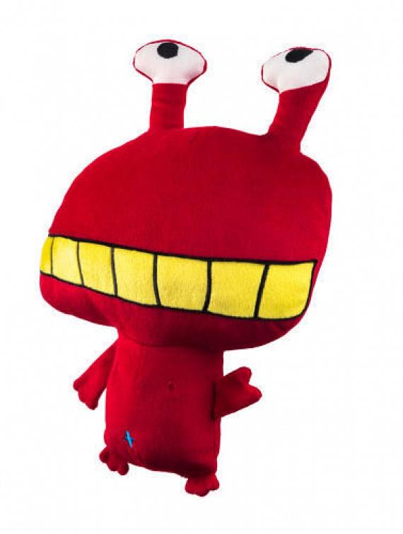 A piros szörnyecskét Chutirada tervezte, aki ötéves, és Thaiföldön él.