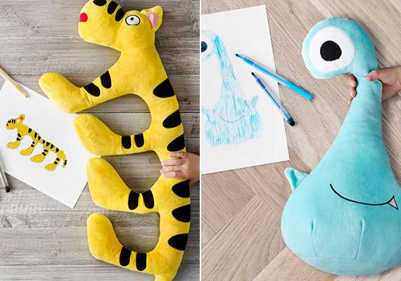 A gyermekrajzok világát visszaadó egyedi plüssök bekerülnek az IKEA áruházak árukészletébe, és megvásárolhatóak lesznek világszerte.                         A bal oldali figura megálmodója:You-Chen Wu, 6 éves, Tajvan                         A jobb oldali figura megálmodója: Karla, 10 éves, Horvátország