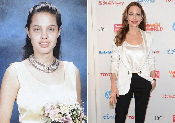 Angelina Jolie mindig is különcnek számított, így valószínűleg már iskolatársai is sejtették, hogy nem áll meg egészen a világhírnévig.