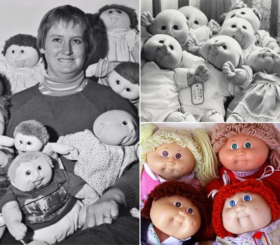 A Cabbage Patch Kids babákkal kislányok tömegei játszottak és játszanak ma is világszerte. Ma már homály fedi eredetüket, pedig a pufók baba ötlete nem az abból meggazdagodó Xavier Robertsé volt eredetileg. Az amerikai népművész, Martha Nelson Thomas - balra - volt az, akitől származott. Ő játék bébiknek nevezte a puha babákat, és vásárokon árulta őket a '70-es években, megvásárlásukat pedig adoptálásnak nevezte. Roberts, amikor lemásolta Martha ötletét, szintén így adta el babáit, sőt, még egy örökbefogadásról szóló bizonyítványt is mellékelt figuráihoz. Martha beperelte Robertset, de az már nem került nyilvánosságra, mennyi pénzt ítélt neki a tolvajtól a bíróság.