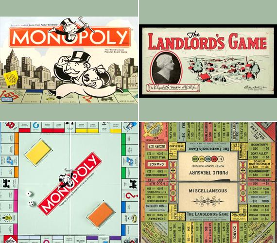 1903-ban találták ki a mai Monopoly elődjét, akkori neve The Landlord's Game volt, vagyis A földbirtokos játéka. Megálmodója Lizzie Magie volt, aki a kapitalizmus igazságtalanságát szerette volna a játékkal szemléltetni, azonban ellopták az ötletét: 1932-ben Charles Darrow, akitől a Monopoly név is származik, felkereste a Parker Brotherst, és eladta nekik az ötletet.