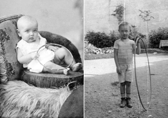 Az örökzöld hulahopp karika babaméretben és egy kisfiú kedves játékaként -1911, 1907.