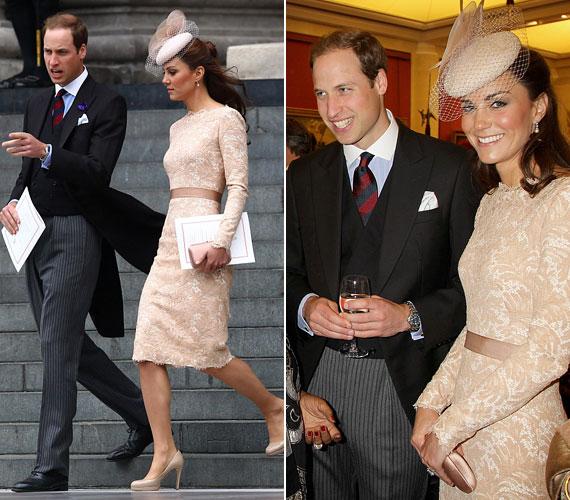 Szó, ami szó, Katalin hercegnő terhessége előtt sem volt túlsúlyos, sőt, a dereka mindig is hihetetlenül vékony volt. A képen a királynő gyémántjubileumának alkalmából rendezett májusi ünnepségsorozaton láthatod.