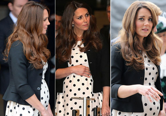 Katalin első terhessége sem volt zökkenőmentes, ám az első trimeszteren túl a hercegnő is, mint a kismamák általában, jobban lett, és kivirult. Csinosabbnál csinosabb kismamaruhákban fotózták időről időre.