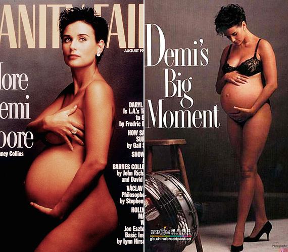 A sztármamik körében elterjedt divat elindítója Demi Moore volt, aki hét hónapos terhesen, poénból tett eleget a felkérésnek, hogy meztelenül pózoljon a Vanity Fair címlapján. Akkoriban, 1991-ben, közfelháborodás övezte a színésznő kitárulkozását, pedig a fotók inkább az anyaság természetességéről szóltak, és nem a pőreséget helyezték előtérbe.