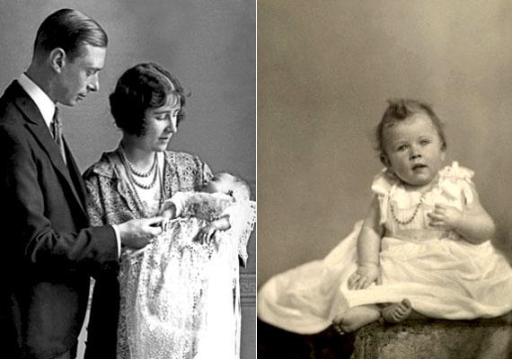 Amikor 25 éves korában, 1925-ben az anyakirálynő várandós lett II. Erzsébettel, az akkori sajtó egy bizonyos Lady Colin Campbell híresztelésétől volt hangos, aki egyrészt kijelentette, hogy tudomása szerint a kis Erzsébet mesterséges megtermékenyítéssel fogant, másrészt azt állította, hogy az anyakirálynő a királyi udvar francia szakácsának lánya. A királyi család természetesen mind a két pletykát cáfolta. A képen a kis Erzsébet látható szüleivel.