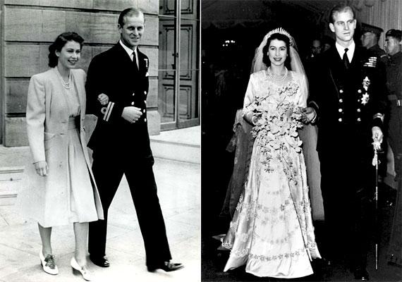 II. Erzsébet királynő (1926) és férje Fülöp edinburgh-i herceg (1921), 1947. november 20-án tartották esküvőjüket. Házasságukból négy gyermek született: Károly walesi herceg, Anna brit királyi hercegnő, András yorki herceg és Eduárd wessexi gróf.