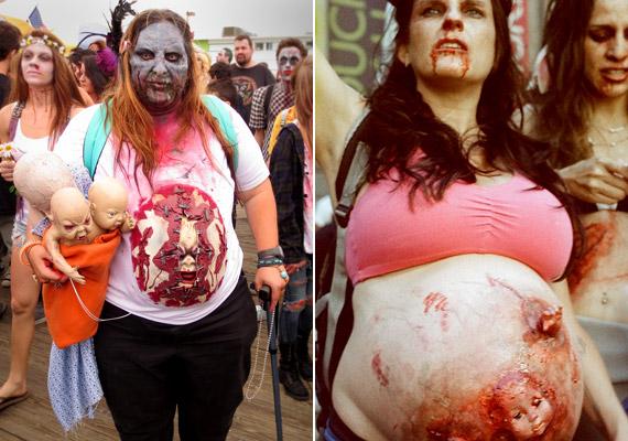 Persze mindent lehet fokozni: a zombi kismamák minden bizonnyal verik a bizarr képek mezőnyét.