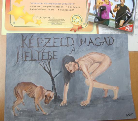 Biczó Marianna, Kaposvár, a plakát címe: Képzeld magad a helyébe!