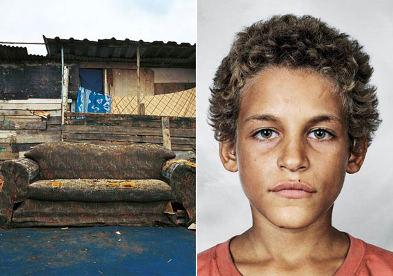 A kilencéves Alex nem jár iskolában, napközben Rio de Janeiro utcáin koldul. Általában a szabad ég alatt alszik - ha talál üres padot, ott, máskülönben a járdán. Jelenleg ez a kiselejtezett kanapé szolgál fekhelyéül.