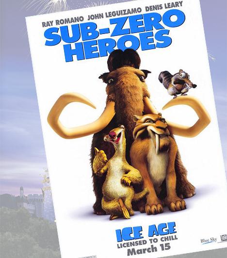 Jégkorszak - 2002A nagydumás jégkorszaki állatok egy embergyerekkel indulnak útra, hogy visszajuttassák őt a törzséhez. A mese egyik fénypontja vitathatatlanul motkány, a makkjáért küzdő állatka, de a többi karakter is hozzájárult a folytatásos animációs film sikeréhez.
