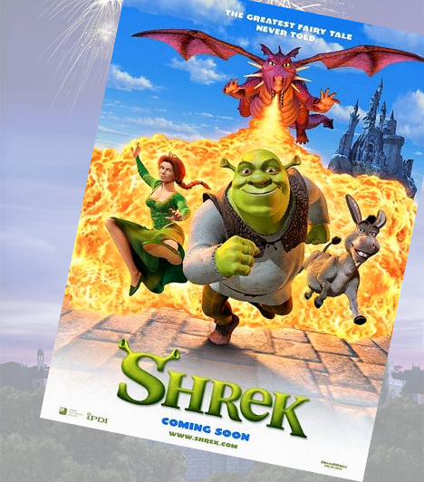 Shrek - 2001A DreamWorks stúdió a Shrekkel a Disney nyomába ért. Bár a szőke herceg ebben a világban korántsem szeretnivaló, Shrek nem tiporja agyon zöld tappancsaival végleg a meséket. A maga különös módján ugyanis éppen az egyszerű, mindennapi hősöket képviseli, azt adva ezzel a gyerkőcök tudtára, hogy nem csak a mesekastélyba születetteket illeti meg a varázslat.