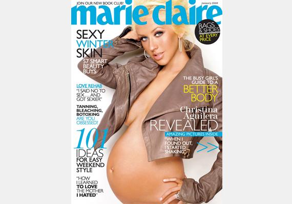 Bár Christina Aguilera egy kabátot azért magára kapott, így is szemmel láthatóan szexire vette a figurát. Az énekesnő 2008-ban lett édesanya.