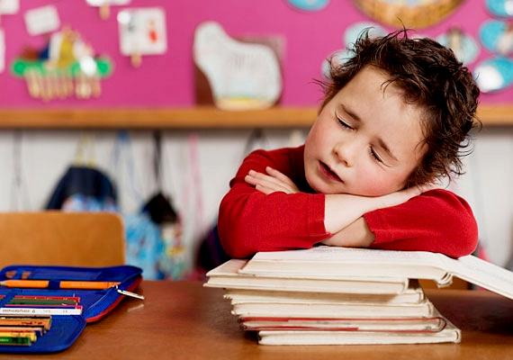 Nagyon fontos, hogy időben lefeküdjön a gyerek, és biztosítva legyen az éjszaka nyugalma. Különben esélyes, hogy a tankönyvek fölött fog szundikálni, de legalábbis elkalandozik.