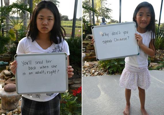 Ha felnőttek lesznek, visszakülditek őket, ugye?Miért nem beszélnek kínaiul?