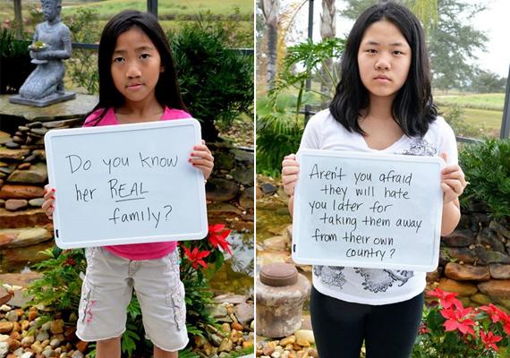 Hol az igazi családod?Nem félsz, hogy utálni fognak, ha felnőnek, mert elvitted őket a hazájukból?
