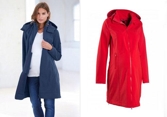 A hűvösebb október végi-november eleji napokra jó választás lehet ez a softshell kabát, amely hosszának köszönhetően combközépig melegít. Kapucnis, meleg, mégis elegáns.Bon Prix, 13 999 forint.