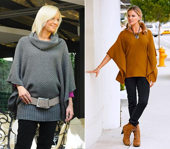 A bő ujjú, pelerinszabású pulóverek megkönnyítik a réteges öltözködést, ráadásul takarnak, ahol kell, mégis roppant nőiesek és bájosak. A Brendon webáruházából 7990 forintért rendelhetsz ilyen szürke kreációt, a mustárbarna változatra pedig a Bon Prix online üzletében csaphatsz le, 4799 forintért.