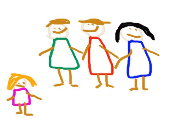 Ha önmagát sokkal kisebbnek, jelentéktelenebbnek rajzolja kis barátainál, osztálytársainál, az rossz önértékelésre, csoporton belüli elnyomására utalhat.